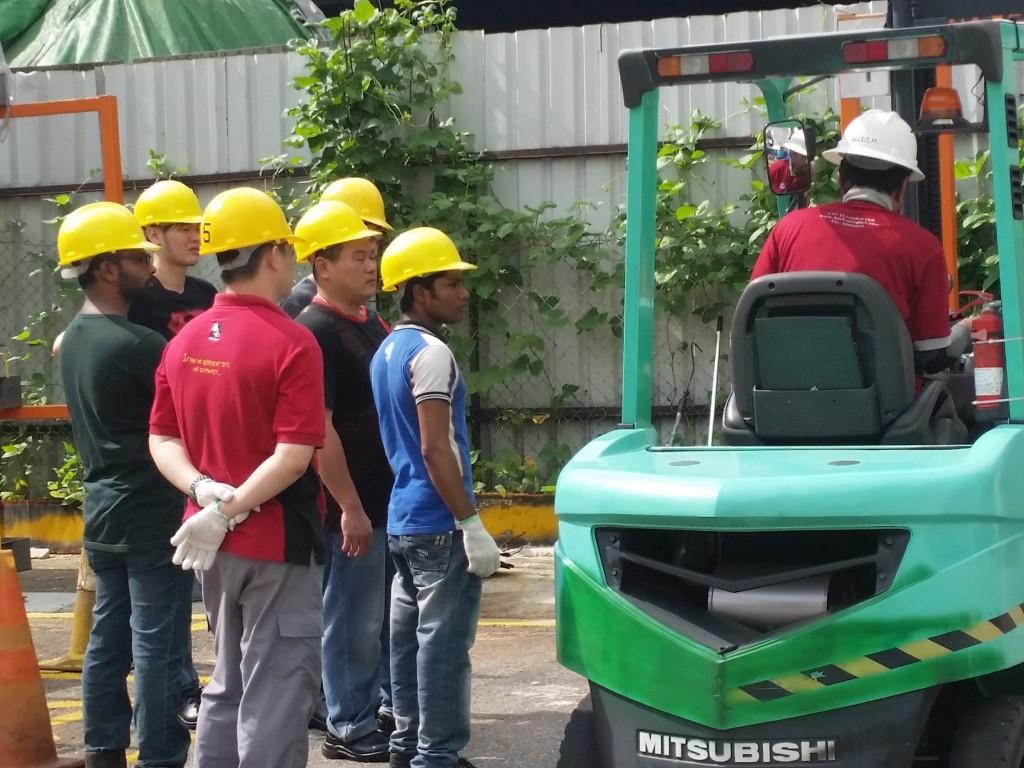 forklift training in progress